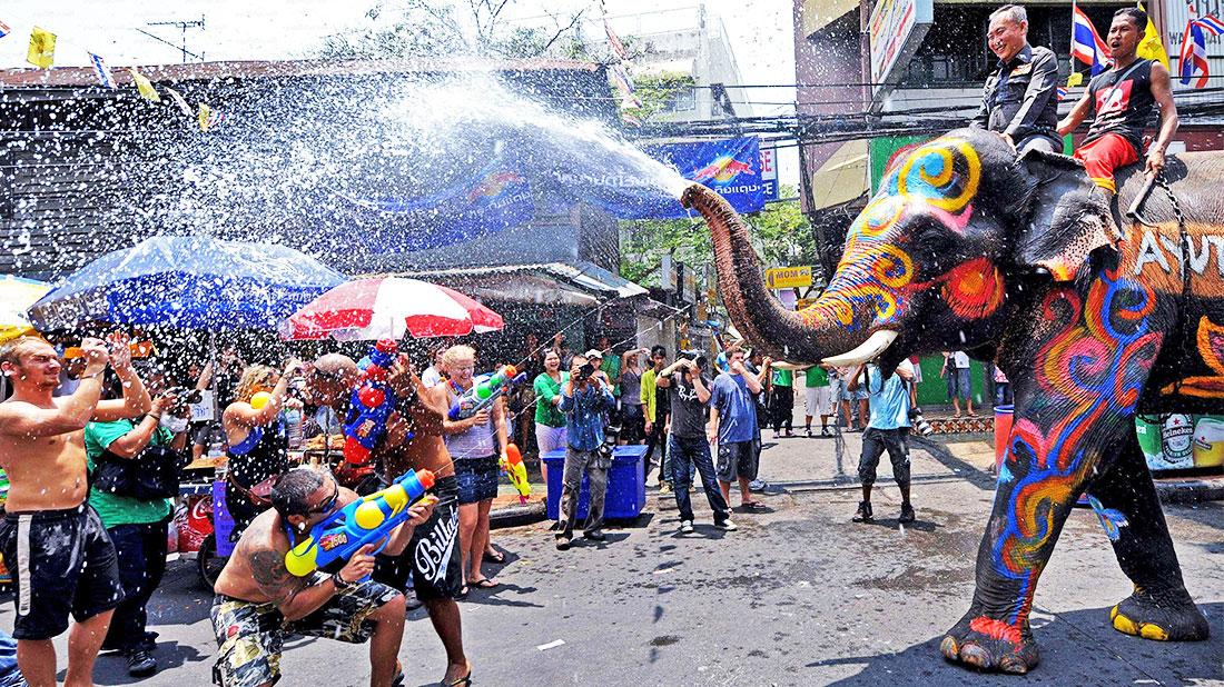 Songkran, en Tailandia.