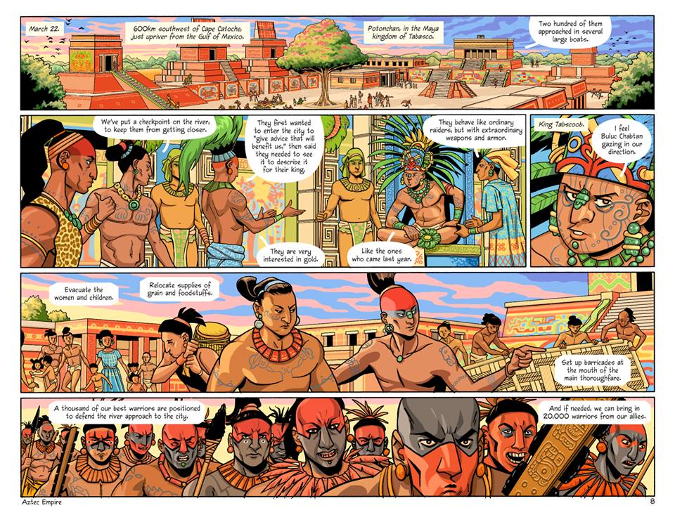 comic aztec empire