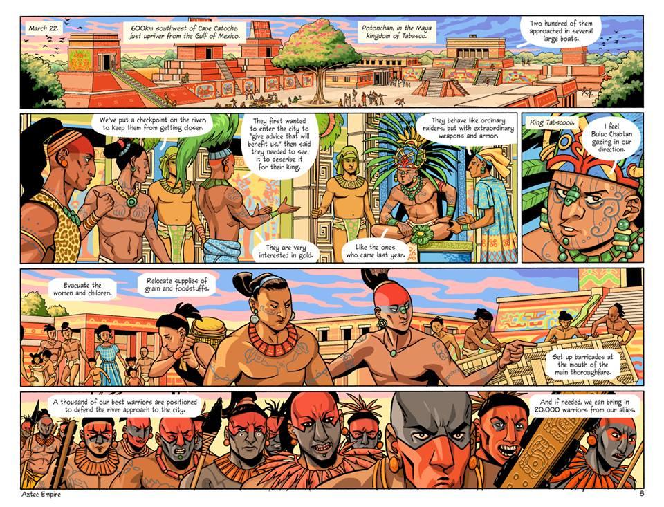 comic aztec empire