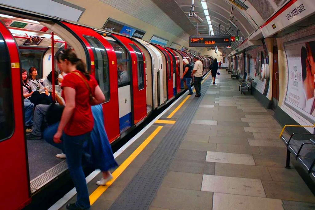 Calor del metro en Londres 2